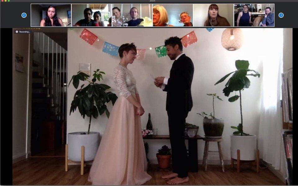 У США пара одружилася у відеочаті Zoom через коронавірус