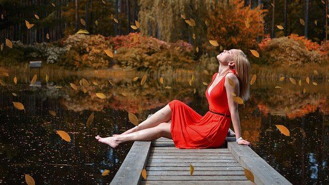 мечта девушка осень